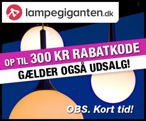 300 kr Lampegiganten rabatkode