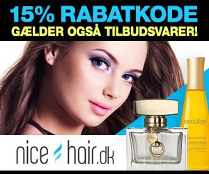 Nicehair 15% rabatkode