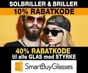 70% Smartbuyglasses + 10% rabatkode