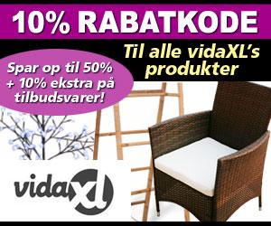 vidaxl 10% rabatkode