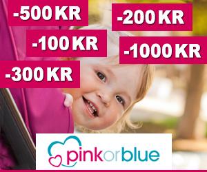 Pinkorblue 100 kr - 1000 kr rabatkode