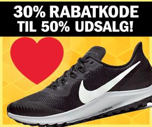 Nike 50% rabat + 30% ekstra kampagnekode