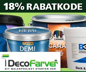 Decofarver 18% rabatkode